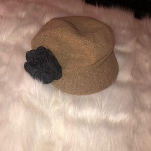 Women's Betmar Brown Flower Fashion Hat